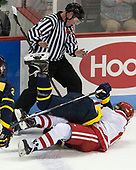 Joe Ross, Ryan Cook (Merrimack - 2), Patrick Curry (BU - 11) - The visiting Merrimack College Warriors defeated the Boston University Terriers 4-1 to complete a regular season sweep on Friday, January 27, 2017, at Agganis Arena in Boston, Massachusetts.The visiting Merrimack College Warriors defeated the Boston University Terriers 4-1 to complete a regular season sweep on Friday, January 27, 2017, at Agganis Arena in Boston, Massachusetts.