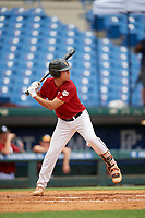 Braden Calise (6) of John Carroll Catholic High School in Fort Pierce, FL during the Perfect Game National Showcase at Hoover Metropolitan Stadium on June 17, 2020 in Hoover, Alabama. (Mike Janes/Four Seam Images)