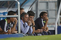 26.08.2012 SPAIN -  La Liga 12/13 Matchday 2th  match played between Getafe C.F. vs Real Madrid CF (0-0) at Alfonso Perez stadium. The picture show Jose Mourinho  coach of Real Madrid