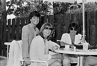 Rene Simard, Renee Martel, Johnny Farago<br /> en 1981<br /> <br /> Photographe : Jacques Thibault<br /> <br /> - Agence Quebec Presse