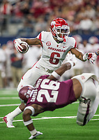 Hawgs Illustrated/Ben Goff<br /> T.J. Hammonds, Arkansas running back, carries in the 2nd quarter vs Texas A&M Saturday, Sept. 29, 2018, during the Southwest Classic at AT&T Stadium in Arlington, Texas.