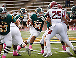 SPEARFISH, SD - OCTOBER 8, 2016 -- Black Hills State running back  Phydell Paris #34 runs against Colorado Mesa  during their football game at Lyle Hare Stadium in Spearfish, S.D. Saturday. (Photo by Dick Carlson/Inertia)