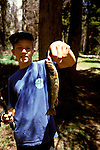 CA: Yosemite National Park, Young boy, Fishing, Tuolomne River, model released       .Photo Copyright: Lee Foster, lee@fostertravel.com, www.fostertravel.com, (510) 549-2202.cayose216