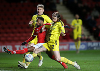Charlton's Tariqe Fosu stretches forward, but fails to connect with a low hard cross during Charlton Athletic vs Burton Albion, Sky Bet EFL League 1 Football at The Valley on 12th March 2019