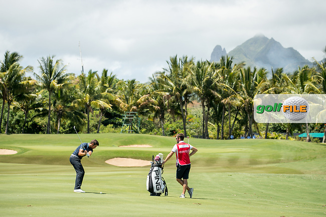 Matthieu Pavon (FRA) during the 1st round of the AfrAsia Bank Mauritius Open, Four Seasons Golf Club Mauritius at Anahita, Beau Champ, Mauritius. 29/11/2018<br /> Picture: Golffile | Mark Sampson<br /> <br /> <br /> All photo usage must carry mandatory copyright credit (&copy; Golffile | Mark Sampson)