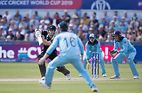 James Neesham (New Zealand) pushes into the covers during England vs New Zealand, ICC World Cup Cricket at The Riverside Ground on 3rd July 2019