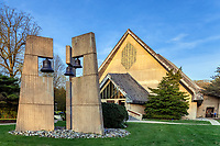 Daylesford Abbey church and bell tower, Paoli, Pennsylvania, USA.