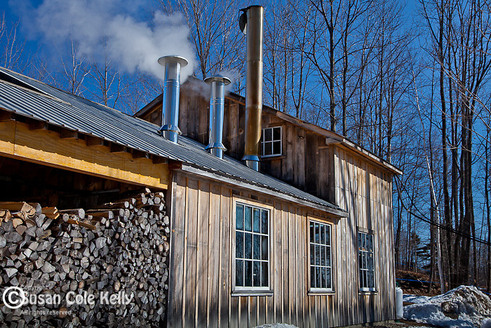 Maine Maple Sunday at the Gerry family's Sugar Hill Boilers in Newfield, ME, USA