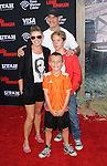 """Adrian Pasdar wife Natalie Maines and sons arriving to the World Premiere of  """"The Lone Ranger"""" held at Disney California Adventure Park on June 22, 2013."""