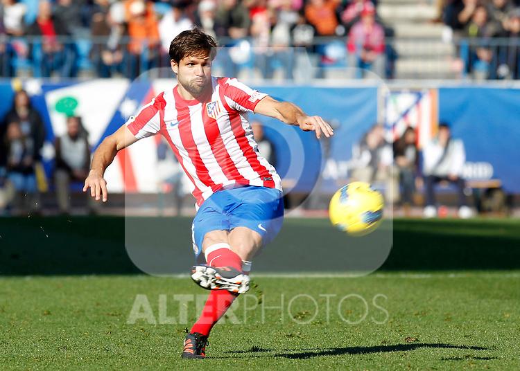 Madrid (04/12/2011).- Estadio Vicente Calderon..LIGA BBVA 15ª Jornada.Atletico de Madrid - Rayo Vallecano..Diego.......