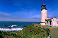 The Norht Head Lighthouse sits on the Long Beach peninsula in Washington state, two miles north of where the Columbia River meets the Pacific Ocean.