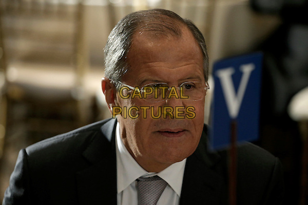 Sergey  Lavrov, Foreign Minister of Russia attends a luncheon for world leaders during the United Nations 71st session of the General Debate at United Nations  headquarters in New York, New York, USA, 20 September 2016.<br /> <br /> CAP/MPI/RS<br /> &copy;RS/MPI/Capital Pictures