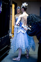 Backstage at The Carolina Ballet's Nutcracker in Raleigh, NC.