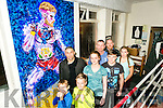 Tralee School of Martial Arts celebrate medal wins at the irish federation of kickboxing national championships in the limerick institute of technology  and a life-sized painting of Conor McGregor which was donated by Artist Mikel kryzi . Pictured Front l-r Cyprian Tyburski and Nikodem Bielinski. Back l-r Artist Mikel kryzi,  Leah Cororan, Mike Allen, Coach, Dion O'Keeffe, Brian Sheehy and Meabh McElligott