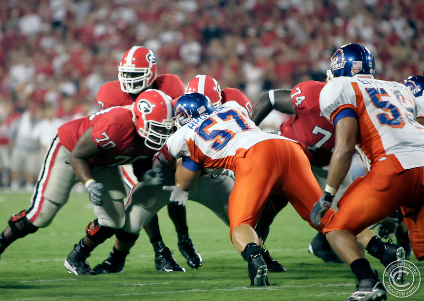 9-3-05  Athens, Ga. 13the ranked Georgia vs. 18th ranked Boise State.