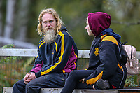 Supporters during the Greene King IPA Championship match between Ampthill RUFC and Nottingham Rugby on Ampthill Rugby's Championship Debut at Dillingham Park, Woburn St, Ampthill, Bedford MK45 2HX, United Kingdom on 12 October 2019. Photo by David Horn.