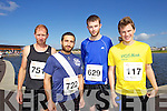 from left Frank Reaph, Sohaib Syed, Jason Kelly and Fergus Dennehy pictured at the Rose of Tralee International 10k Race in Tralee on Sunday.