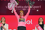 Race leader Primoz Roglic (SLO) Team Jumbo-Visma retains the Maglia Rosa at the end of Stage 4 of the 2019 Giro d'Italia, running 235km from Orbetello to Frascati, Italy. 14th May 2019<br /> Picture: Gian Mattia D'Alberto/LaPresse | Cyclefile<br /> <br /> All photos usage must carry mandatory copyright credit (© Cyclefile | Gian Mattia D'Alberto/LaPresse)