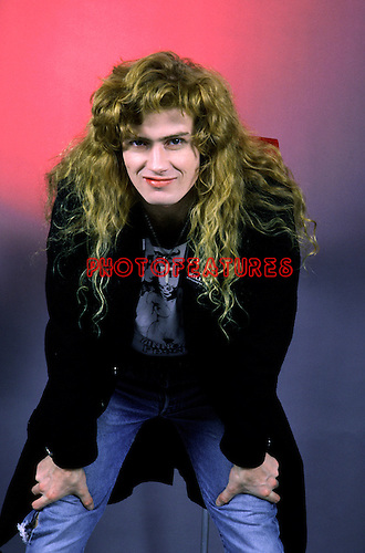 Megadeth 1986 Dave Mustaine.© Chris Walter.
