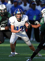 Armwood Hawks kicker Nick Feely #10 looks to make a tackle on a kick off during the fourth quarter of the Florida High School Athletic Association 6A Championship Game at Florida's Citrus Bowl on December 17, 2011 in Orlando, Florida.  Feeling is the younger brother of Arizona Cardinals kicker Jay Feely.  Armwood defeated Miami Central 40-31.  (Mike Janes/Four Seam Images)