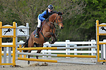 Class 1.  British novice. British Showjumping juniors. Brook Farm Training Centre. Essex. 20/04/2017. MANDATORY Credit Garry Bowden/Sportinpictures - NO UNAUTHORISED USE - 07837 394578