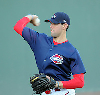 Pitcher Anthony Ranaudo (23) of the Greenville Drive, Class A affiliate of the Boston Red Sox, during the team's first workout on April 5, 2011, at Fluor Field at the West End in Greenville, S.C. Ranaudo, out of Louisiana State University, was Boston's No. 1 pick in the 2010 Major League Baseball First-Year Player Draft. He was the No. 39 pick overall. Photo by: Tom Priddy / Four Seam Images