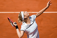 June 3, 2015: Timea Bacsinszky of Switzerland in action in a Quarterfinal match against Alison Van Uytvanck of Belgium on day eleven of the 2015 French Open tennis tournament at Roland Garros in Paris, France. Bacsinszky won 64 75. Sydney Low/AsteriskImages