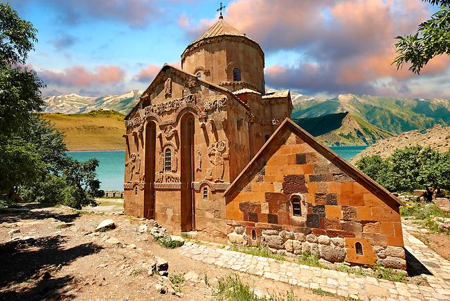 10th century Armenian Orthodox Cathedral of the Holy Cross on Akdamar Island, Lake Van Turkey 60