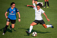Kansas City, MO - Wednesday August 16, 2017: Christina Gibbons, Taylor Lytle during a regular season National Women's Soccer League (NWSL) match between FC Kansas City and Sky Blue FC at Children's Mercy Victory Field.