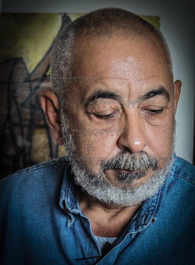 portrait of Leonardo Padura Fuentes Cuban writer  and  journalist