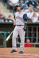 Colorado Springs Sky Sox first baseman Kyle Parker (11) steps to the plate during the Pacific League game against the Oklahoma City RedHawks at the Chickasaw Bricktown Ballpark on August 3, 2014 in Oklahoma City, Oklahoma.  The RedHawks defeated the Sky Sox 8-1.  (William Purnell/Four Seam Images)