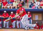 5 March 2016: Washington Nationals infielder Anthony Rendon in action during a Spring Training pre-season game against the Detroit Tigers at Space Coast Stadium in Viera, Florida. The Nationals defeated the Tigers 8-4 in Grapefruit League play. Mandatory Credit: Ed Wolfstein Photo *** RAW (NEF) Image File Available ***