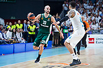 Real Madrid Jeffery Taylor and Panathinaikos Nick Calathes during Turkish Airlines Euroleague Quarter Finals 4th match between Real Madrid and Panathinaikos at Wizink Center in Madrid, Spain. April 27, 2018. (ALTERPHOTOS/Borja B.Hojas)