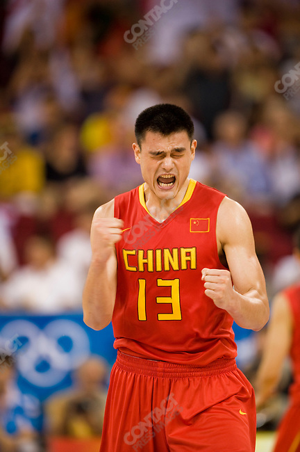Men's Basketball, Yao Ming, China vs USA, preliminary round, Summer Olympics, Beijing, China, August 10, 2008