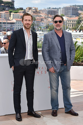 Ryan Gosling, Russell Crowe at 'The Nice Guys' photocall during the 63rd International Cannes Film Festival, France<br /> May 2010<br /> CAP/PL<br /> &copy;Phil Loftus/Capital Pictures /MediaPunch ***NORTH AND SOUTH AMERICA ONLY***