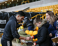 Wolverhampton Wanderers' Raul Jimenez signs his autograph for fans<br /> Photographer Lee Parker/CameraSport<br /> <br /> The Premier League - Wolverhampton Wanderers v Newcastle United - Saturday 11th January 2020 - Molineux - Wolverhampton<br /> <br /> World Copyright © 2020 CameraSport. All rights reserved. 43 Linden Ave. Countesthorpe. Leicester. England. LE8 5PG - Tel: +44 (0) 116 277 4147 - admin@camerasport.com - www.camerasport.com