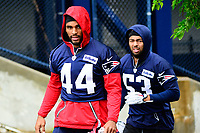 June 6, 2017: New England Patriots linebacker Trevor Bates (44) walks to practice in the rain at the New England Patriots mini camp held on the practice field at Gillette Stadium, in Foxborough, Massachusetts. Eric Canha/CSM