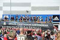 The Wales squad arrive at the stadium during the homecoming celebrations at the Cardiff City stadium on Friday 8th July 2016 for the Euro 2016 Wales International football squad.<br /> <br /> <br /> Jeff Thomas Photography -  www.jaypics.photoshelter.com - <br /> e-mail swansea1001@hotmail.co.uk -<br /> Mob: 07837 386244 -