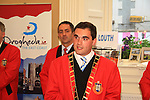 Mayor Kevin Callan speaks to those attending the Civic Reception for the Florale Judges in the Tholsel Tourist Office..Picture: Shane Maguire / www.newsfile.ie.