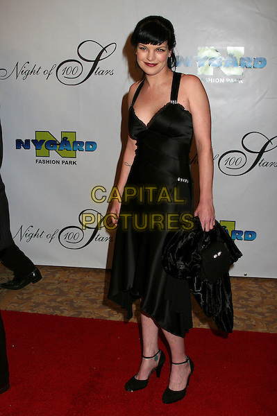"PAULEY PERRETTE.17th Annual ""Night of 100 Stars"" Oscar Gala at the Beverly Hills Hotel, Beverly Hills, California, USA..February 25th, 2007.full length black dress.CAP/ADM/BP.©Byron Purvis/AdMedia/Capital Pictures"