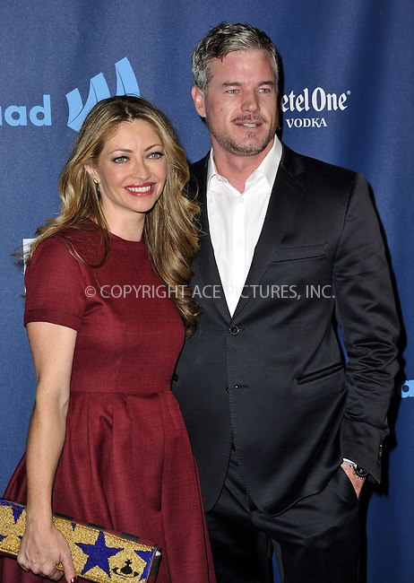 WWW.ACEPIXS.COM......April 20, 2013, Los Angeles, CA.....Rabecca Gayheart and Eric Dane arriving at the 24th Annual GLAAD Media Awards held at the JW Marriott Los Angeles at L.A. LIVE on April 20, 2013 in Los Angeles, California. ..........By Line: Peter West/ACE Pictures....ACE Pictures, Inc..Tel: 646 769 0430..Email: info@acepixs.com