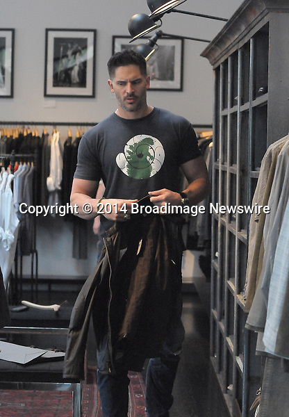 Pictured: Joe Manganiello<br /> Mandatory Credit &copy; GOLA/Broadimage<br /> Joe Manganiello out shopping at John Varvatos in West Hollywood<br /> <br /> 3/7/14, West Hollywood, California, United States of America<br /> <br /> Broadimage Newswire<br /> Los Angeles 1+  (310) 301-1027<br /> New York      1+  (646) 827-9134<br /> sales@broadimage.com<br /> http://www.broadimage.com
