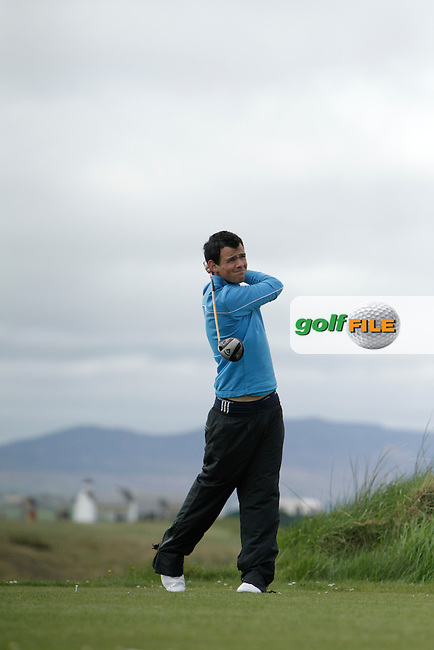 Paul Coughlan (Moate) during round 1 of The West of Ireland Amateur Open in Co. Sligo Golf Club on Friday 18th April 2014.<br /> Picture:  Thos Caffrey / www.golffile.ie