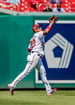23 August 2018: Washington Nationals outfielder Juan Soto pulls in the first out in the 5th inning against the Philadelphia Phillies at Nationals Park in Washington, DC. The Phillies shut out the Nationals 2-0 to take the 3rd game of their 3-game mid-week divisional series. Mandatory Credit: Ed Wolfstein Photo *** RAW (NEF) Image File Available ***