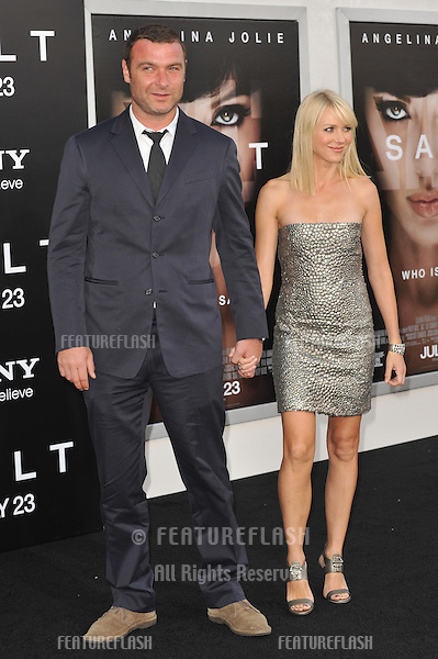 "Liev Schreiber & fiancée Naomi Watts at the premiere of his new movie ""Salt"" at Grauman's Chinese Theatre, Hollywood..July 19, 2010  Los Angeles, CA.Picture: Paul Smith / Featureflash"