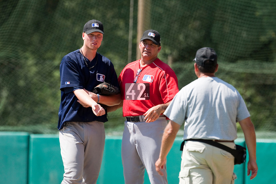 Baseball - MLB European Academy - Tirrenia (Italy) - 21/08/2009 - Oscar Carlstedt (Sweden), Bruce Hurst