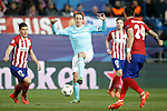 Atletico de Madrid's Lucas Hernandez (l) and Jose Maria Gimenez (r) and PSV Eindhoven's Luuk de Jong during UEFA Champions League match. March 15,2016. (ALTERPHOTOS/Acero)