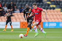 Sam Jones of Grimsby Town on the ball during the Sky Bet League 2 match between Barnet and Grimsby Town at The Hive, London, England on 29 April 2017. Photo by David Horn.