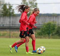 20200605 - TUBIZE , Belgium : Shari van Belle (left) and Davina Van Mechelen (right) run with the ball during a training session of the Belgian national women's soccer team called the Red Flames during their after Corona – Covid training week, on the 5 th of June 2020 in Tubize.  PHOTO SEVIL OKTEM| SPORTPIX.BE
