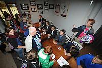 IJSHOCKEY: HEERENVEEN: Thialf IJsstadion, 22-09-2012, Open dag Friesland Flyers, 'meet and greet' met de spelers, Trevor Hunt, Jurryt Smid en Marc Nijland, ©foto Martin de Jong